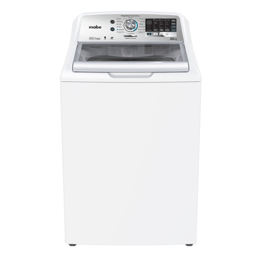 Lavadora Aqua Saver Green High Efficiency Automática 22 kg Blanca con Sanitizado Mabe - LMH72201WBAB0